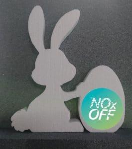 Beispiel für Osterhase mit NOxOFF-Ei