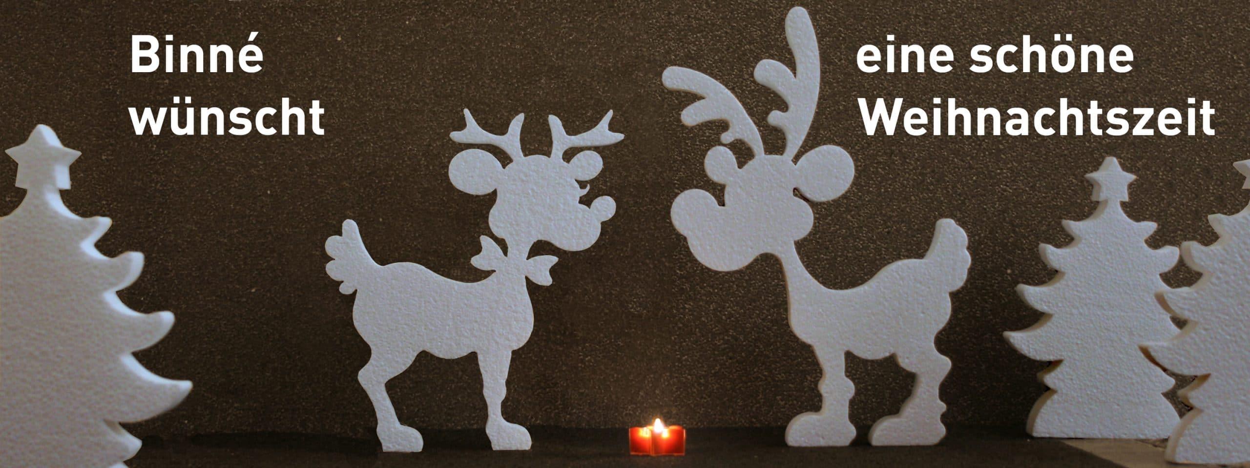 Weihnachten Hersteller Binné Rentierpaar aus EPS